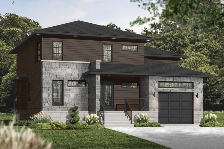 Contemporary House Plan - Parkview 37867 - Front Exterior