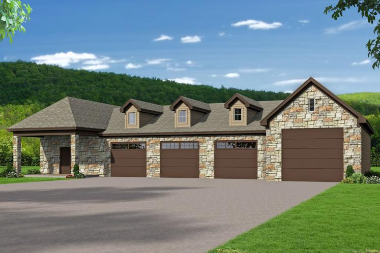 Classic Garage Plan -  37952 - Front Exterior