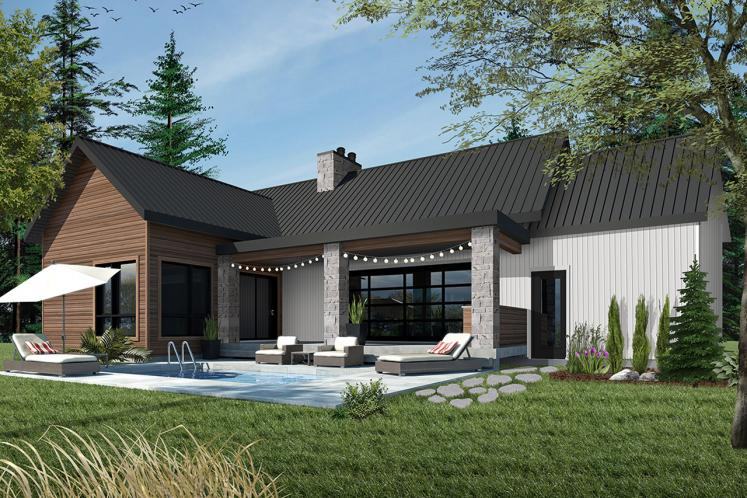 Craftsman House Plan - Olympe 2 37967 - Rear Exterior