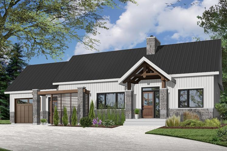 Farmhouse House Plan - Olympe 2 37967 - Front Exterior