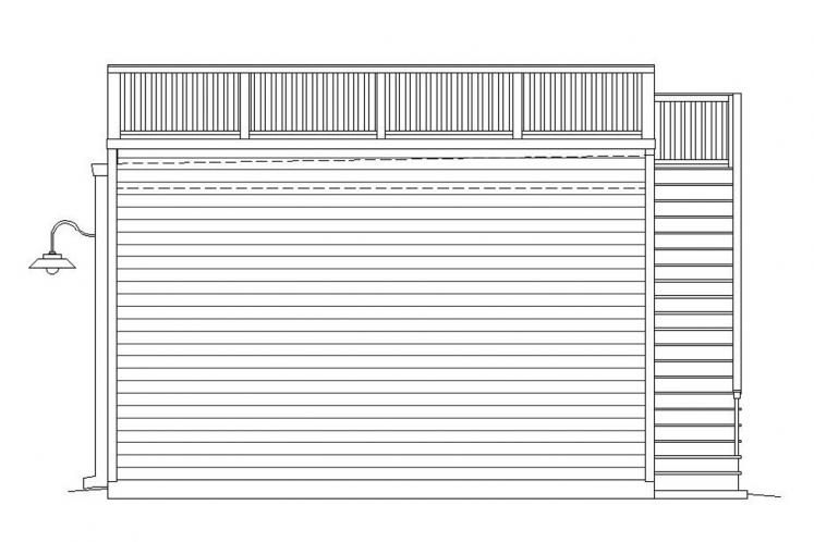 Traditional Garage Plan -  37985 - Right Exterior