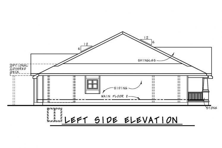 Country House Plan - Gretna Cottage FB 38103 - Left Exterior