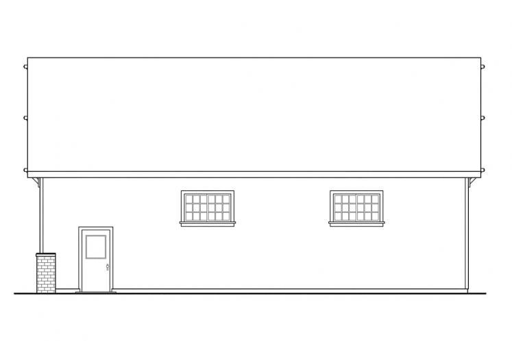 Traditional Garage Plan -  38219 - Right Exterior