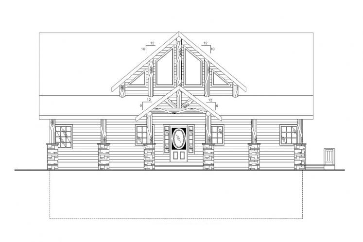 Lodge Style House Plan -  38266 - Front Exterior