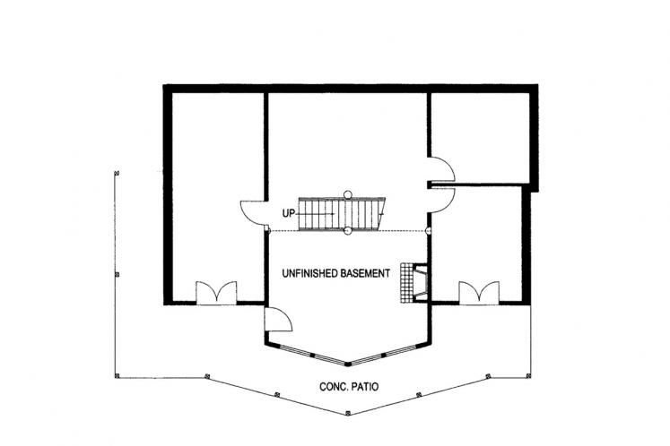 Lodge Style House Plan -  38266 - Basement Floor Plan