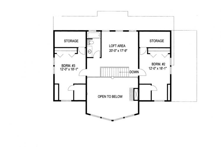 Country House Plan -  38266 - 2nd Floor Plan