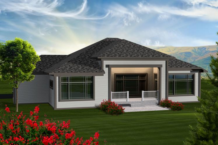 Contemporary House Plan -  38290 - Rear Exterior