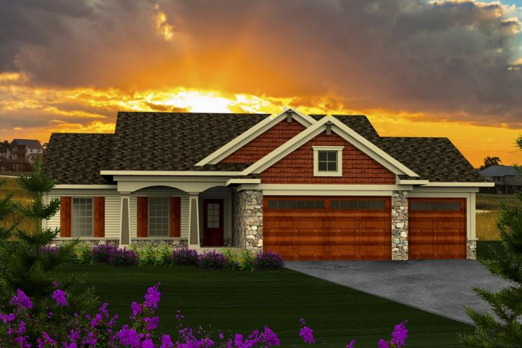 Ranch House Plan -  38495 - Front Exterior