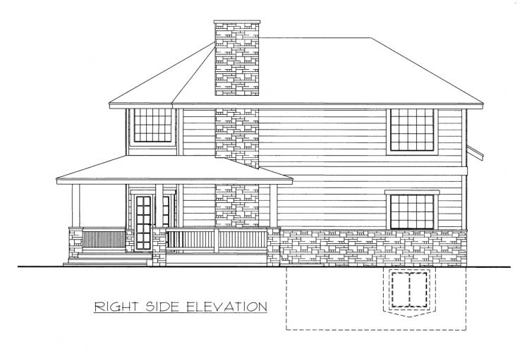 Country House Plan -  38535 - Right Exterior