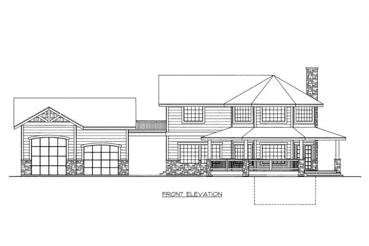 Country House Plan -  38535 - Front Exterior