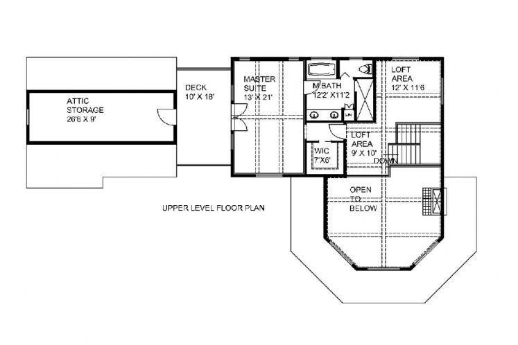 Cape Cod House Plan -  38535 - 2nd Floor Plan