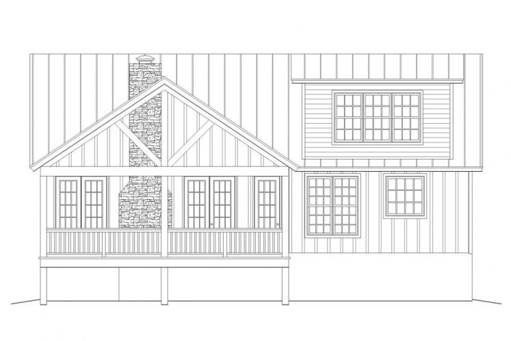 Country House Plan -  38560 - Rear Exterior