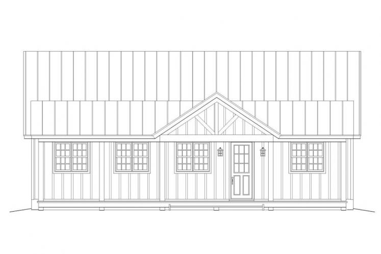 Cottage House Plan -  38560 - Front Exterior