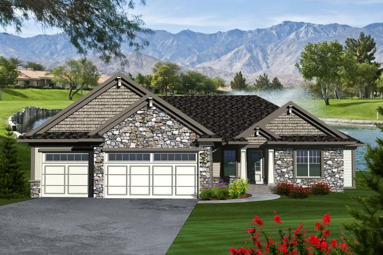 Traditional House Plan -  38564 - Front Exterior