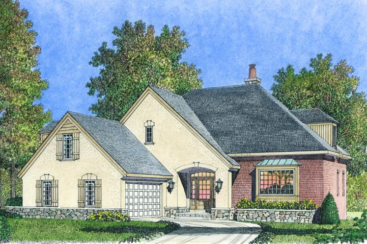 Country House Plan -  38573 - Front Exterior
