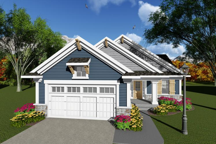 Craftsman House Plan -  38760 - Front Exterior