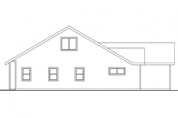 Traditional House Plan - Carter 38893 - Left Exterior