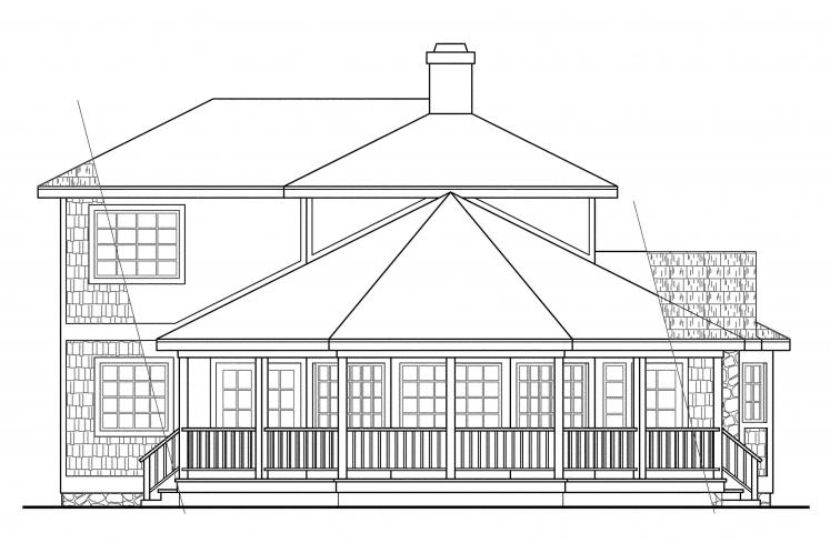 Cottage House Plan - Lakeview 39003 - Right Exterior