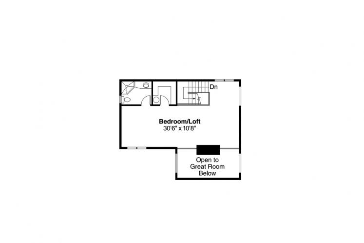 Cottage House Plan - Lakeview 39003 - 2nd Floor Plan