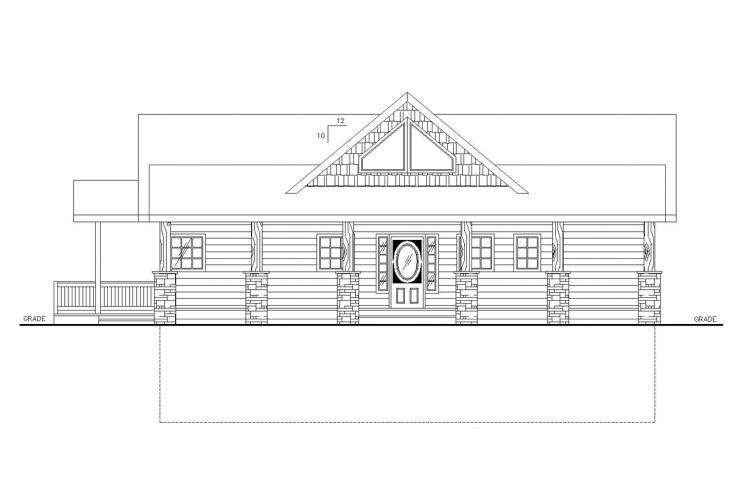 Country House Plan -  39059 - Front Exterior