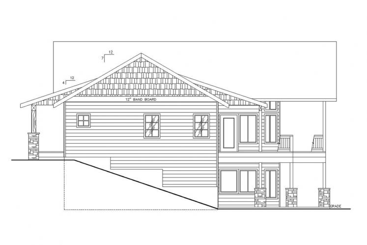 Country House Plan -  39059 - Right Exterior