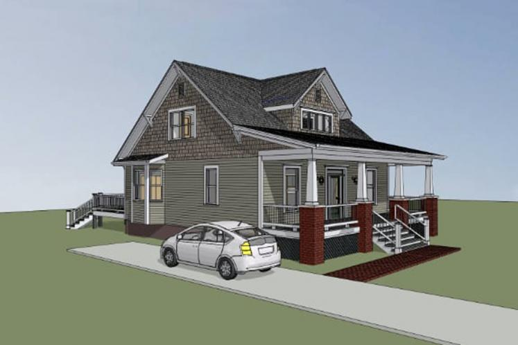 Bungalow House Plan -  39128 - Front Exterior