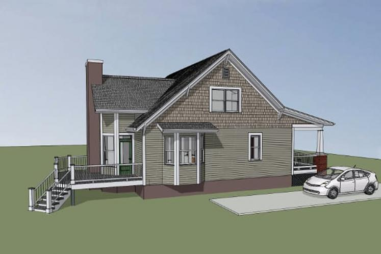 Cottage House Plan -  39128 - Left Exterior