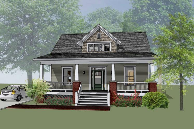 Country House Plan -  39128 - Front Exterior