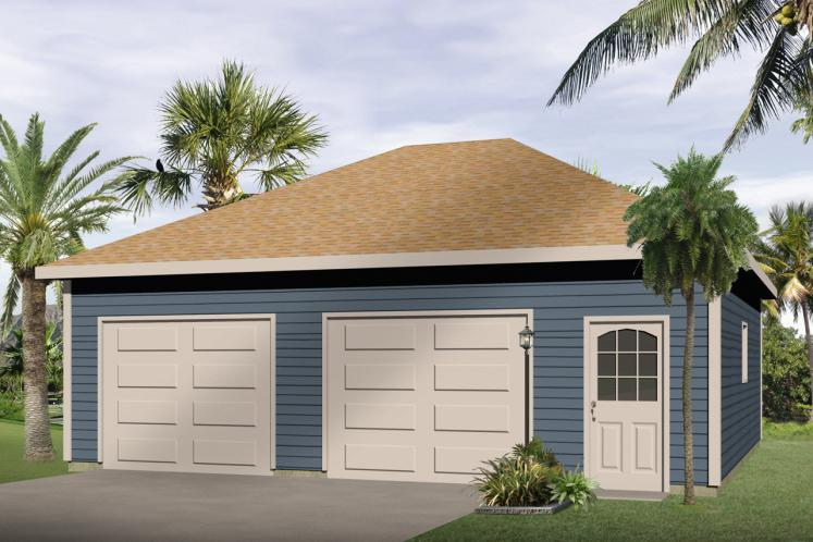 Traditional Garage Plan -  39194 - Front Exterior