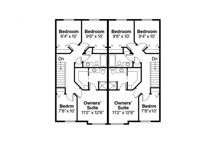 Country Multi-family Plan - Toliver 39251 - 2nd Floor Plan