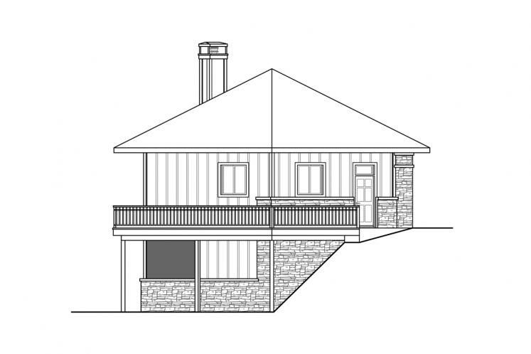 Lodge Style Garage Plan -  39277 - Right Exterior