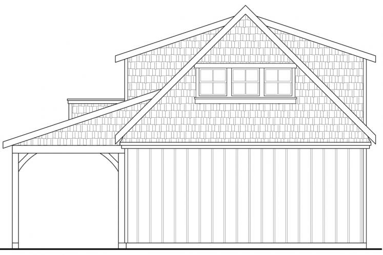 Country Garage Plan -  39446 - Rear Exterior
