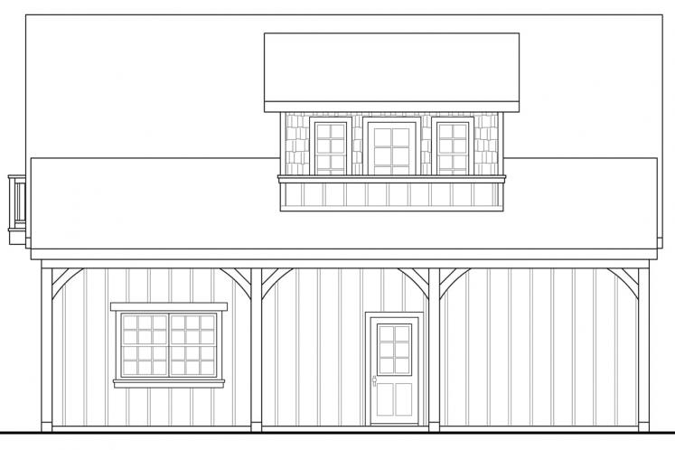 Country Garage Plan -  39446 - Right Exterior