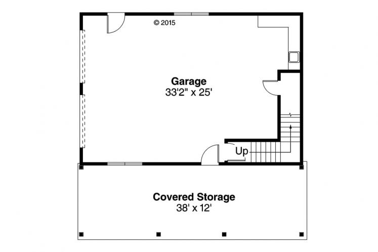 Craftsman Garage Plan -  39446 - 1st Floor Plan