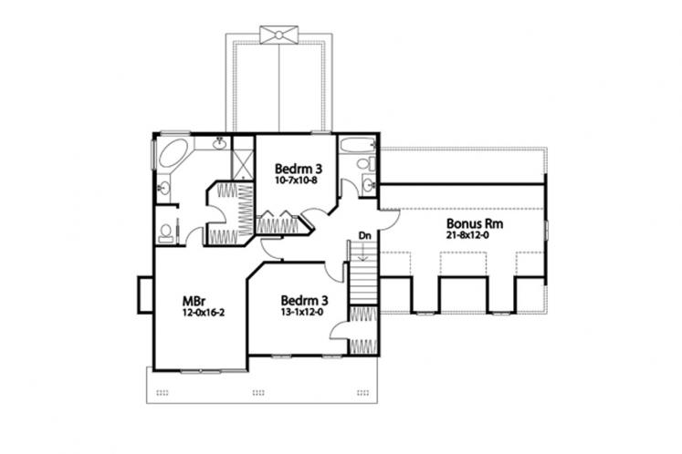 Country House Plan -  39457 - 2nd Floor Plan
