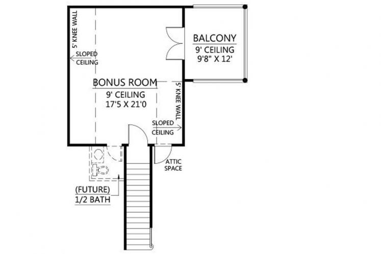 Southern House Plan - Bourgeois 39618 - 2nd Floor Plan