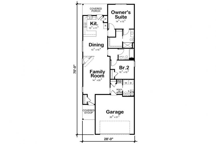 Ranch House Plan - Hillary Spring 39626 - 1st Floor Plan