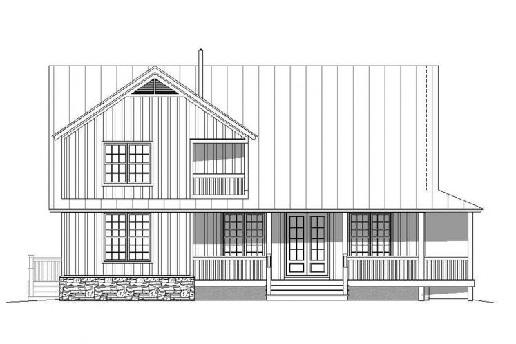 Cottage House Plan - Mountain Shadows 39640 - Rear Exterior