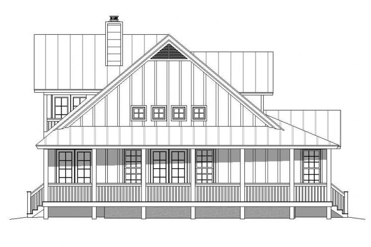 Country House Plan - Mountain Shadows 39640 - Left Exterior