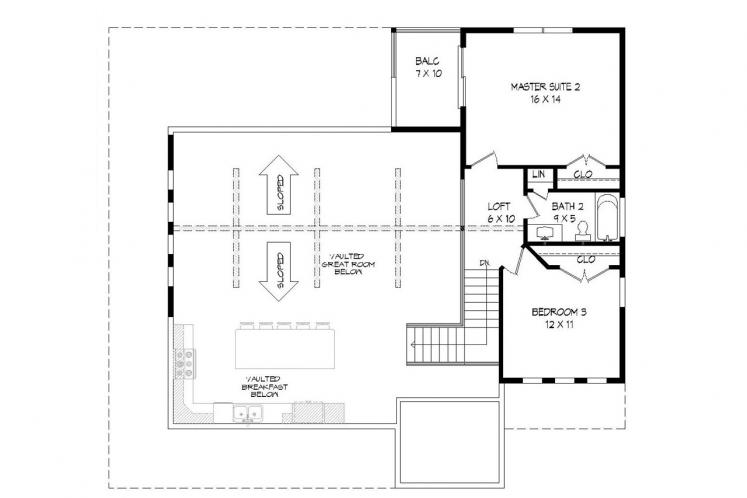 Country House Plan - Mountain Shadows 39640 - 2nd Floor Plan