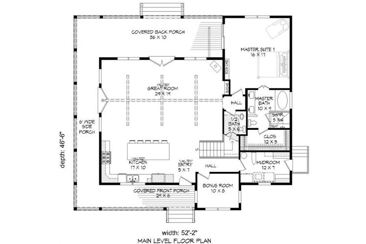 Craftsman House Plan - Mountain Shadows 39640
