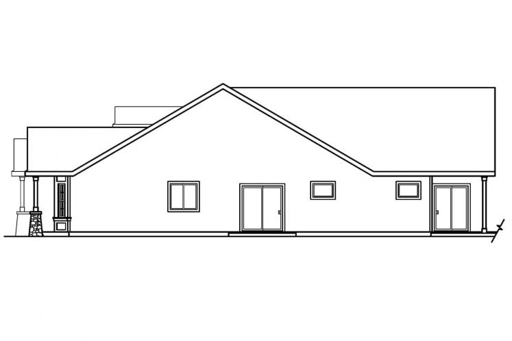 Craftsman House Plan - Bergstrom 39803 - Right Exterior