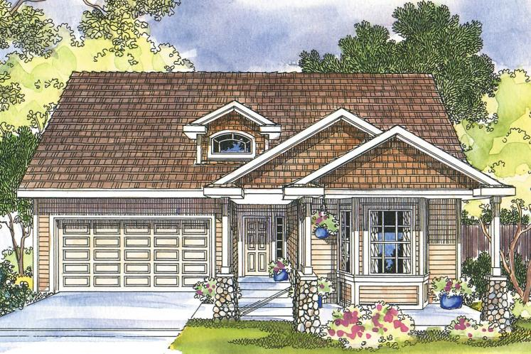 Craftsman House Plan - Bergstrom 39803 - Front Exterior