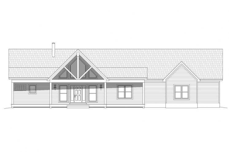 Ranch House Plan - Glenrock II 39831 - Front Exterior
