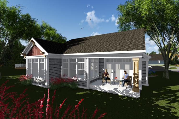 Country House Plan -  39965 - Rear Exterior