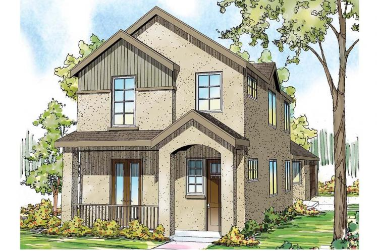 Mediterranean House Plan - Rock Creek 40056 - Front Exterior
