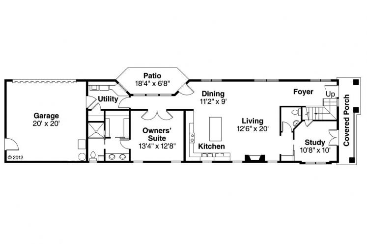 Modern House Plan - Rock Creek 40056 - 1st Floor Plan