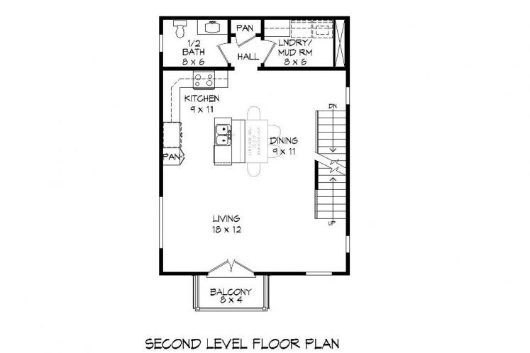 Modern House Plan - Shute Park 40081 - 2nd Floor Plan