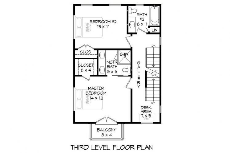 Contemporary House Plan - Shute Park 40081 - Other Floor Plan