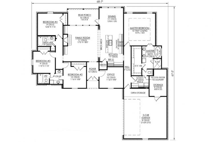 Classic House Plan - Champagne  40094 - 1st Floor Plan